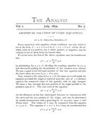 The Analyst : 1874 Vol. 1 No. 7 Jul Volume Vol. 1 by
