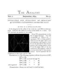 The Analyst : 1874 Vol. 1 No. 9 Sep Volume Vol. 1 by