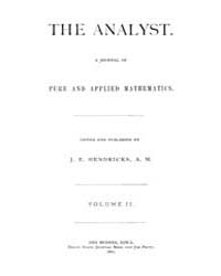 The Analyst : 1875 Vol. 2 No. 1 Jan Volume Vol. 2 by
