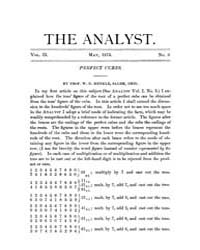 The Analyst : 1875 Vol. 2 No. 3 May Volume Vol. 2 by