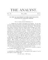 The Analyst : 1875 Vol. 2 No. 6 Nov Volume Vol. 2 by