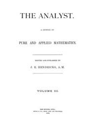 The Analyst : 1876 Vol. 3 No. 1 Jan Volume Vol. 3 by