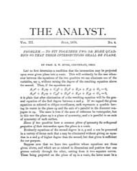 The Analyst : 1876 Vol. 3 No. 4 Jul Volume Vol. 3 by