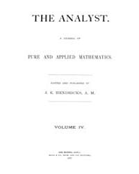 The Analyst : 1877 Vol. 4 No. 1 Jan Volume Vol. 4 by