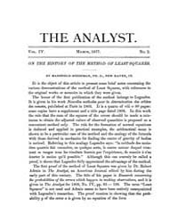 The Analyst : 1877 Vol. 4 No. 2 Mar Volume Vol. 4 by