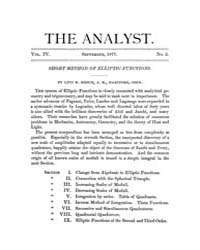 The Analyst : 1877 Vol. 4 No. 5 Sep Volume Vol. 4 by