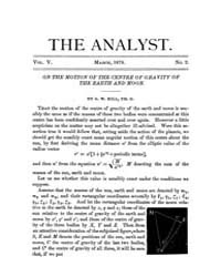 The Analyst : 1878 Vol. 5 No. 2 Mar Volume Vol. 5 by