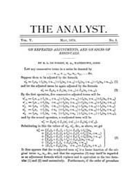 The Analyst : 1878 Vol. 5 No. 3 May Volume Vol. 5 by