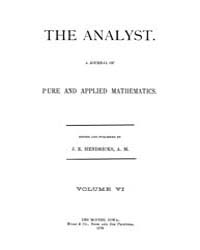The Analyst : 1879 Vol. 6 No. 1 Jan Volume Vol. 6 by
