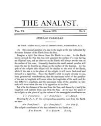 The Analyst : 1879 Vol. 6 No. 2 Mar Volume Vol. 6 by