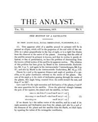 The Analyst : 1879 Vol. 6 No. 5 Sep Volume Vol. 6 by