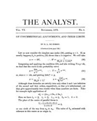 The Analyst : 1879 Vol. 6 No. 6 Nov Volume Vol. 6 by