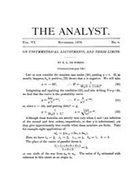The Analyst : 1879 Vol. 6 No. 6 Nov Volume Vol. 6 by