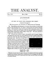 The Analyst : 1880 Vol. 7 No. 3 May Volume Vol. 7 by