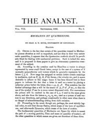 The Analyst : 1880 Vol. 7 No. 5 Sep Volume Vol. 7 by