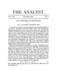 The Analyst : 1880 Vol. 7 No. 6 Nov Volume Vol. 7 by