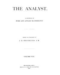 The Analyst : 1881 Vol. 8 No. 1 Jan Volume Vol. 8 by