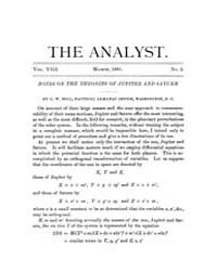 The Analyst : 1881 Vol. 8 No. 2 Mar Volume Vol. 8 by