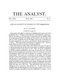 The Analyst : 1881 Vol. 8 No. 3 May Volume Vol. 8 by