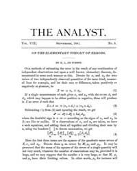 The Analyst : 1881 Vol. 8 No. 5 Sep Volume Vol. 8 by