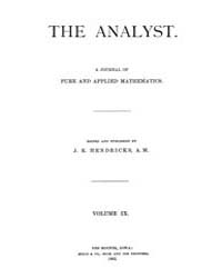 The Analyst : 1882 Vol. 9 No. 1 Jan Volume Vol. 9 by