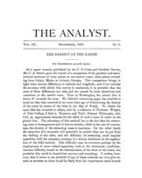The Analyst : 1882 Vol. 9 No. 5 Sep Volume Vol. 9 by