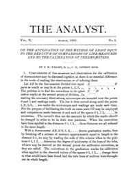 The Analyst : 1883 Vol. 10 No. 2 Mar Volume Vol. 1 by