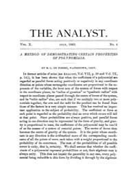The Analyst : 1883 Vol. 10 No. 4 Jul Volume Vol. 1 by
