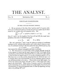 The Analyst : 1883 Vol. 10 No. 5 Sep Volume Vol. 1 by