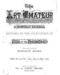 The Art Amateur : 1884 Jun. No. 1 Vol. 1... Volume Vol. 11 by Marks, Montague