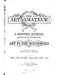 The Art Amateur : 1889 Jun. No. 1 Vol. 2... Volume Vol. 21 by Marks, Montague