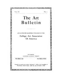 The Art Bulletin : 1920 Sep. No. 1 Vol. ... Volume Vol. 3 by