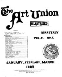 The Art Union : 1885 Jan. - Mar. No. 1 V... Volume Vol. 2 by