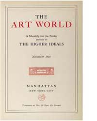 The Art World : 1916 Nov. No. 2 Vol. 1 Volume Vol. 1 by Boardman, John