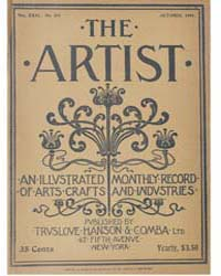 The Artist an Illustrated Monthly Record... Volume Vol. 31 by Jackson, Charles, Kains