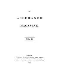 The Assurance Magazine : 1852 No. 1 Vol.... Volume Vol. 2 by