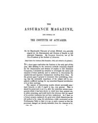 The Assurance Magazine and Journal of th... Volume Vol. 3 by