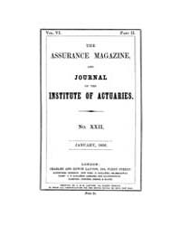 The Assurance Magazine and Journal of th... Volume Vol. 6 by