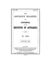 The Assurance Magazine and Journal of th... Volume Vol. 7 by