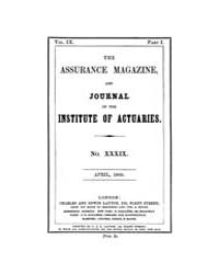 The Assurance Magazine and Journal of th... Volume Vol. 9 by