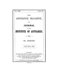 The Assurance Magazine and Journal of th... Volume Vol. 8 by