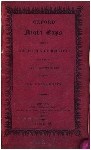Oxford Night Caps by Cook, Richard