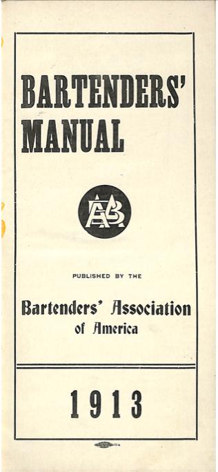 Bartenders Manual by Bishop, W. T.