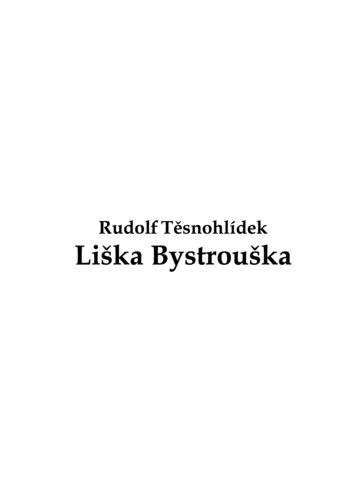 Liška Bystrouška by Těsnohlídek, Rudolf
